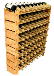 Decomil 72 Bottle Stackable Modular Wine Rack Holds
