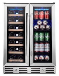 Kalamera 24'' Wine and Beverage Cooler Dual Zone
