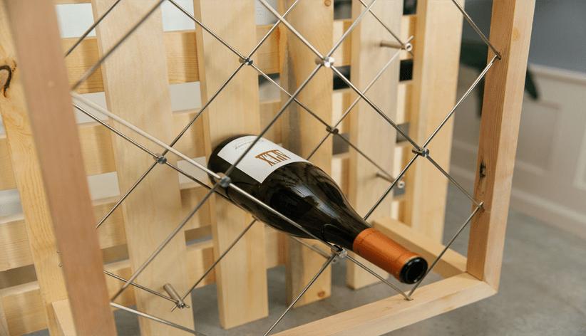 how to build a diamond wine rack